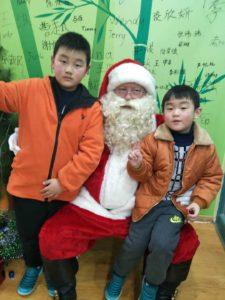 Santa visits Nanjing